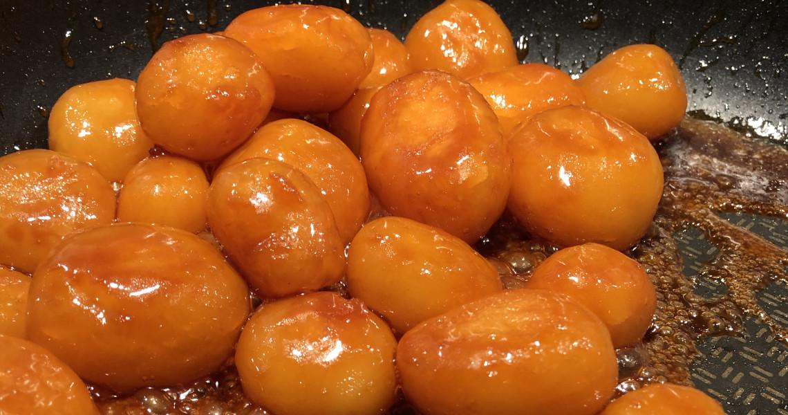 Sukkerbrunede Kartofler